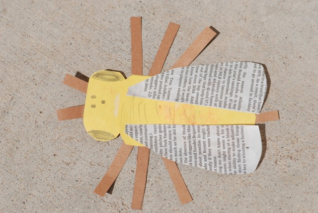 Honey bee paper model
